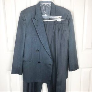 Lubiam Wool And Silk Blendsuit Size 50